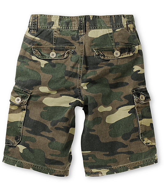 Free World Boys Camtastic Camo Print Cargo Shorts