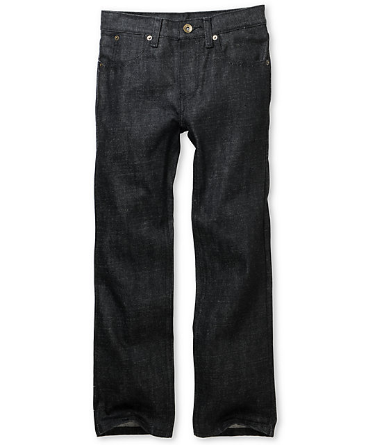 Free World Boys Messenger Black Rinse Tint Skinny Jeans