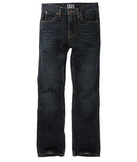 Free World Boys Messenger Dirt Wash Skinny Jeans