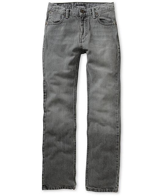 Free World Boys Messenger Grey Skinny Jeans