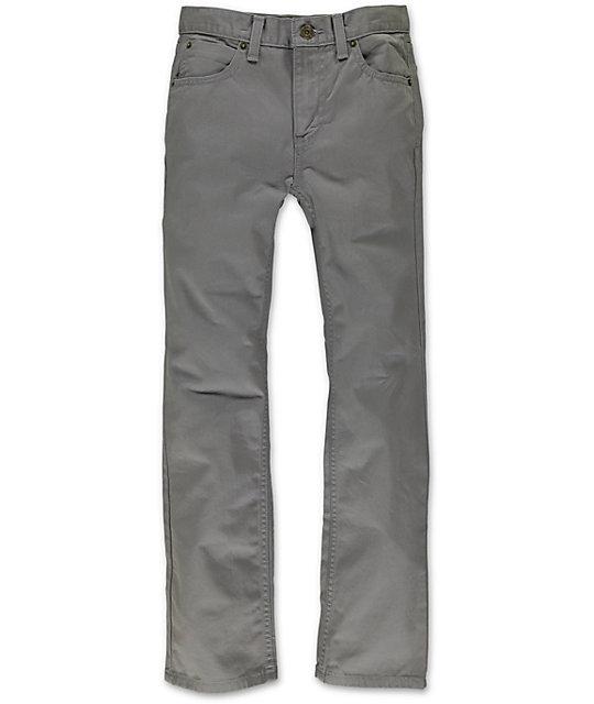 World Boys Messenger Grey Twill Skinny Pants