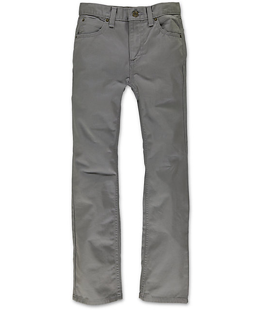 Free World Boys Messenger Grey Twill Skinny Pants at Zumiez : PDP