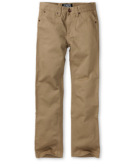 Free World Boys Messenger Khaki Chino Pants