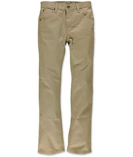 Free World Boys Messenger Khaki Twill Pants