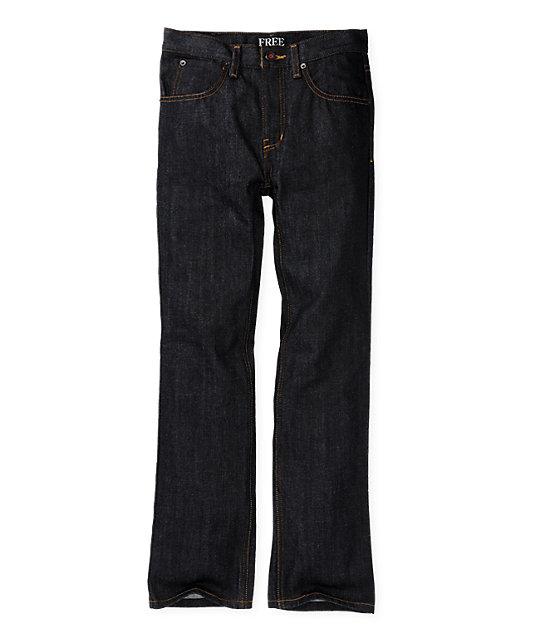 Free World Boys Messenger Raw Skinny Jeans
