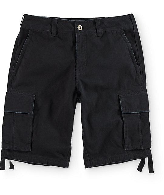 Free World Calamity Black Cargo Shorts