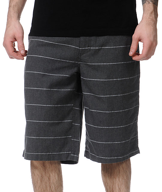 Free World Chase Black Stripe Chino Shorts
