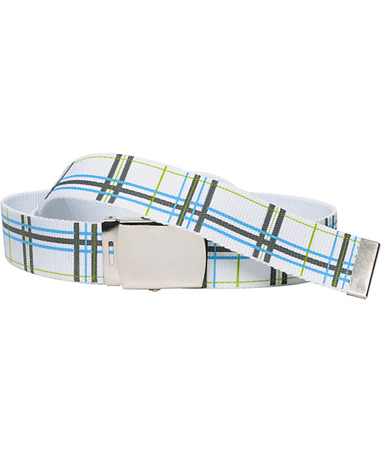 Free World Coal White Web Belt