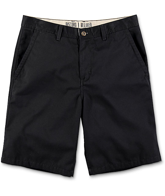 Free World Discord Black Chino Shorts