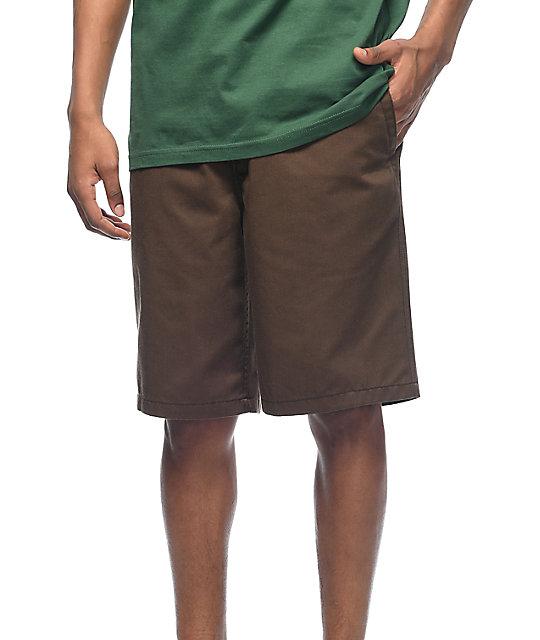 Free World Discord Coffee Bean Chino Shorts