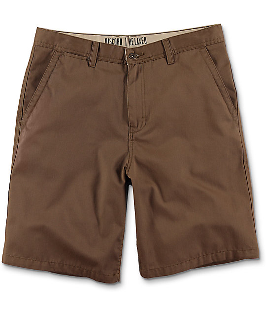 World Discord Dark Khaki Chino Shorts