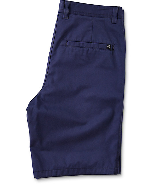 Free World Discord Navy Chino Shorts