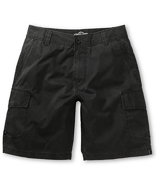 Free World Donkra Black Cargo Hybrid Shorts