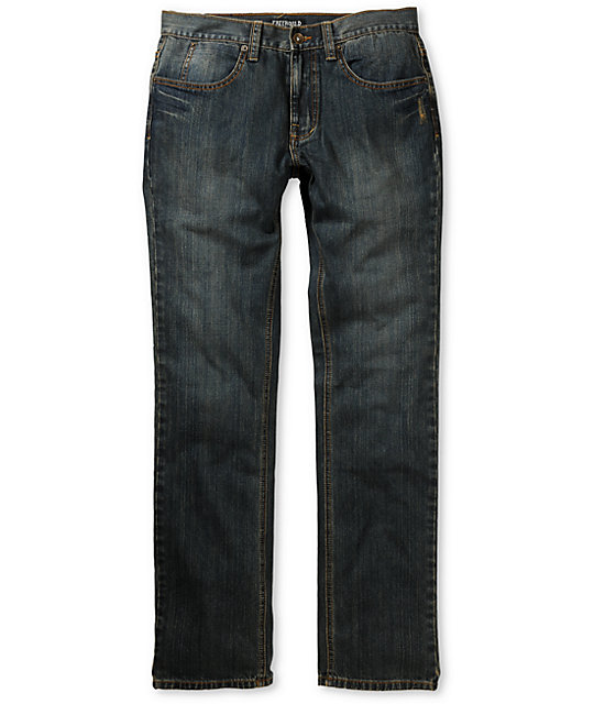 Free World Drifter Dirty Resin Slim Jeans