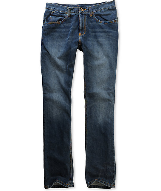 Free World Drifter Medium Blue Slim Jeans