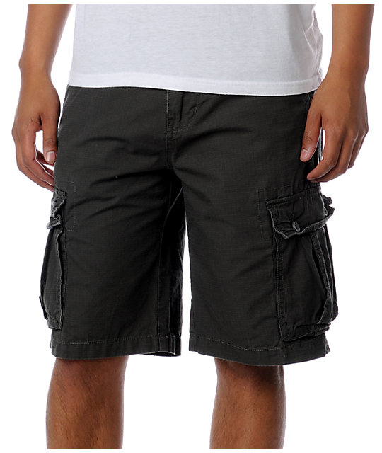 Free World Dual Ripstop Grey Cargo Shorts