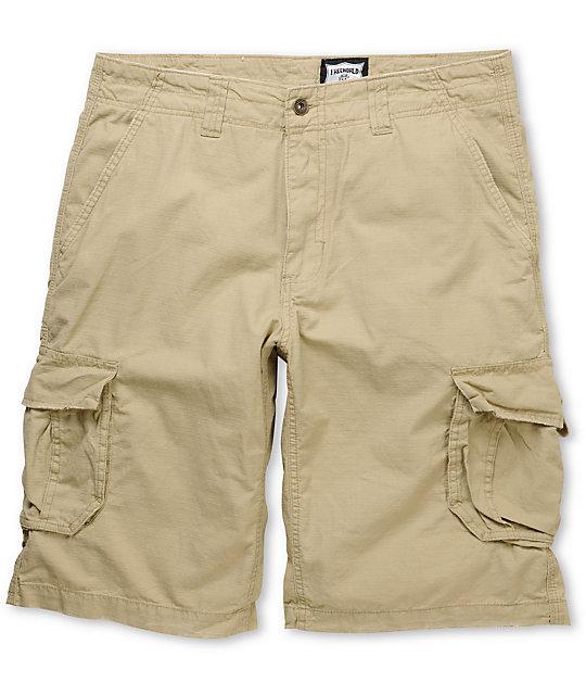 Free World Fink Khaki Ripstop Cargo Shorts