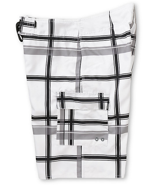 Free World Fly Guy Plaid 21 Board Short