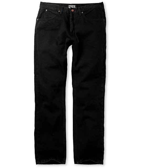 Free World Garage Black Overdye Relaxed Fit Jeans