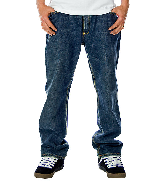 Free World Garage Deep Freeze Wash Relaxed Fit Jeans