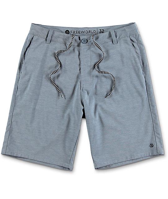 World Glassy Blue Stretch Hybrid Shorts