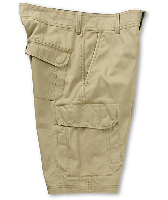 Free World Head Honcho Khaki Cargo Shorts