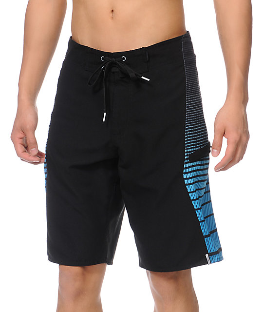Free World Hey Moto Blue & Black 21 Board Shorts