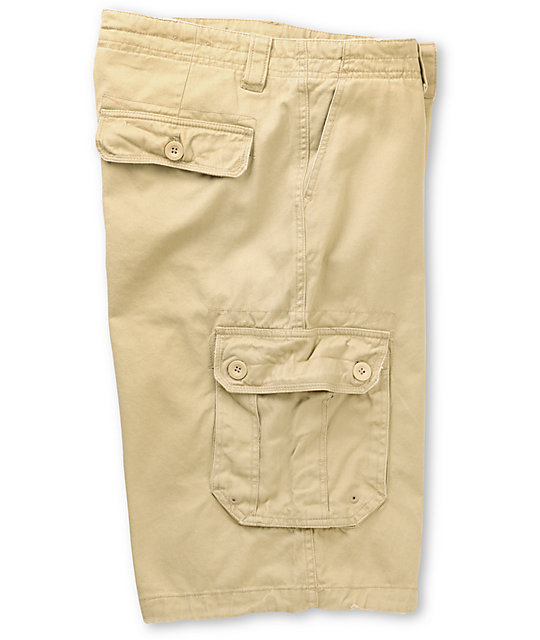 Free World Holyoke Khaki Cargo Shorts