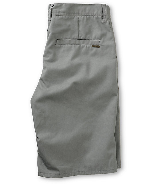 Free World Hooligan Grey Chino Shorts