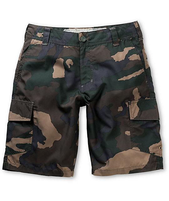 Free World Hunnington Camo Print Hybrid Shorts