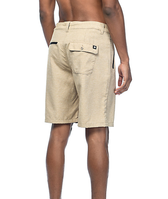 Free World Maverick Dark Khaki Tech Hybrid Shorts