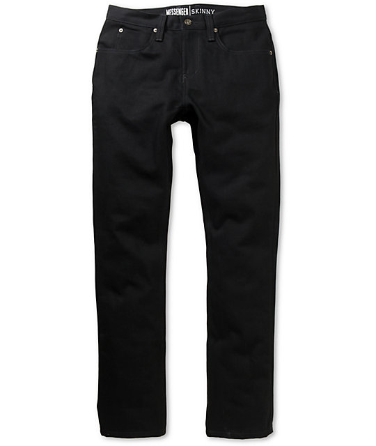 Free World Messenger Black Denim Super Skinny Jeans