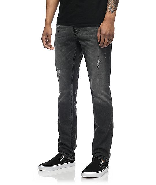 Free World Messenger Black Thunder Wash Skinny Jeans