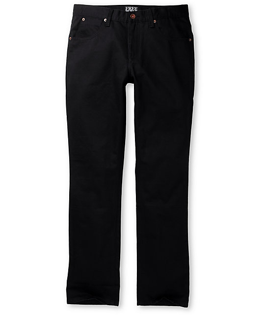 Free World Messenger Black Twill Pants at Zumiez : PDP
