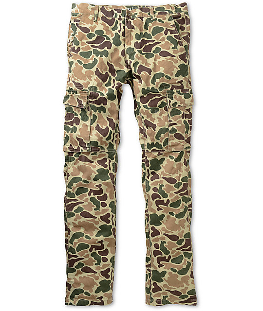 Free World Messenger Bubble Camo Skinny Cargo Pants
