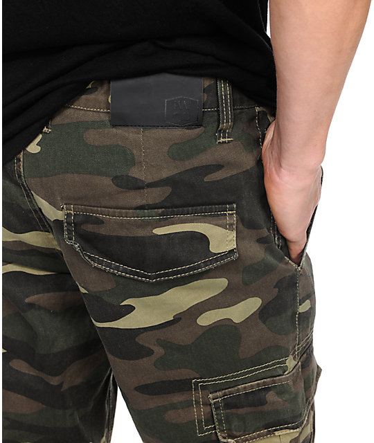 Free World Messenger Camo Skinny Cargo Pants