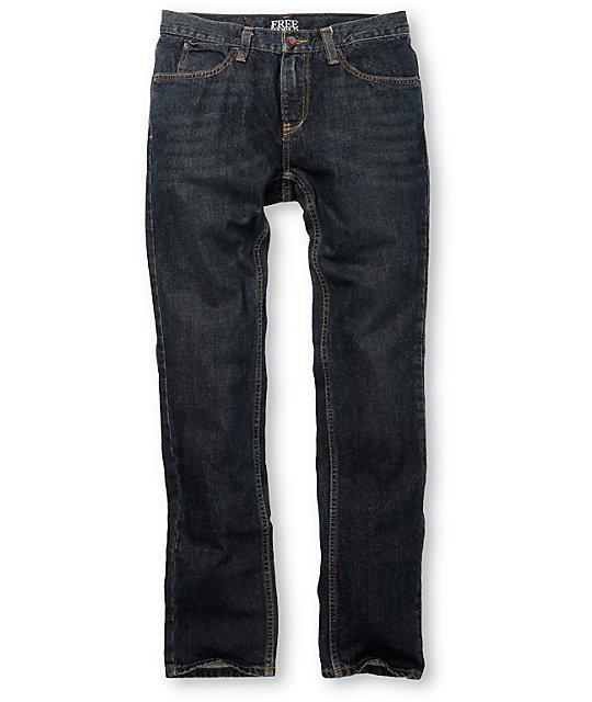 Free World Messenger Dark Dirty Skinny Jeans
