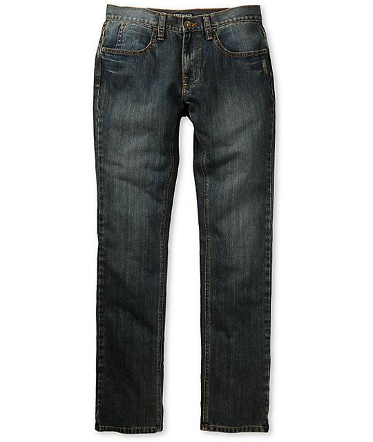 Free World Messenger Dirty Resin Skinny Jeans