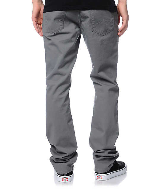 Free World Messenger Grey Twill Skinny Pants