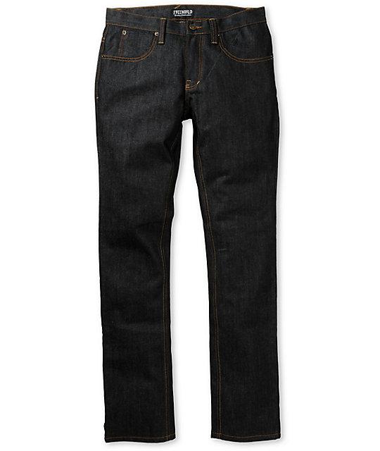 Free World Messenger Raw Ink Wash Skinny Jeans