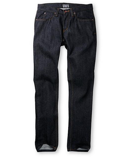 Free World Messenger Raw Skinny Jeans