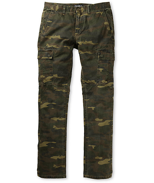 Free World Messenger Skinny Camo Cargo Pants at Zumiez : PDP