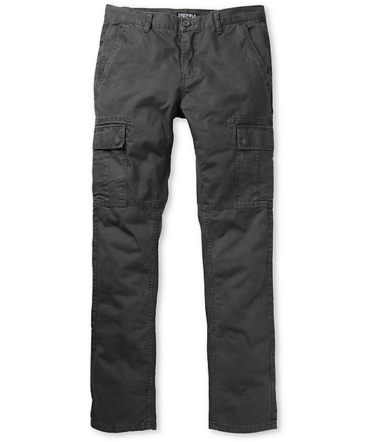Free World Messenger Skinny Grey Cargo Pants