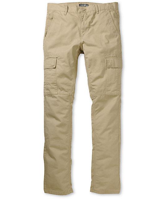 Slim Khaki Cargo Pants
