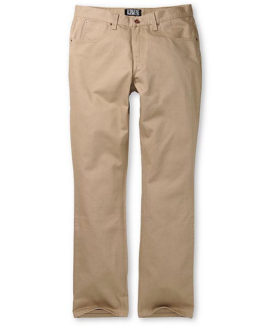 Free World Messenger Skinny Khaki Twill Pants at Zumiez : PDP