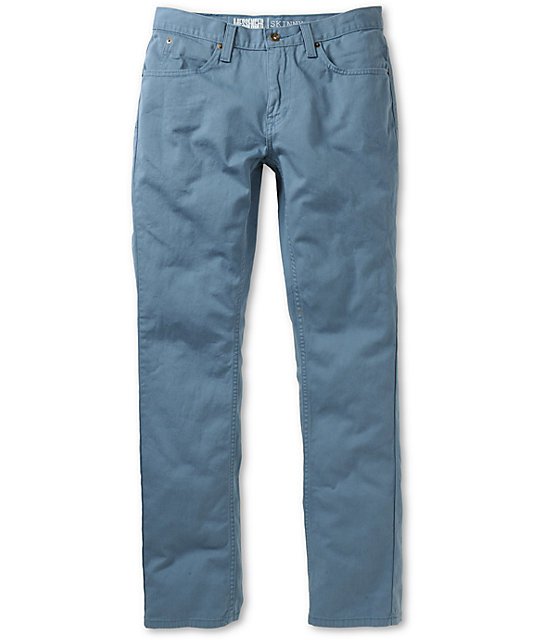 Free World Messenger Slate Blue Twill Skinny Pants