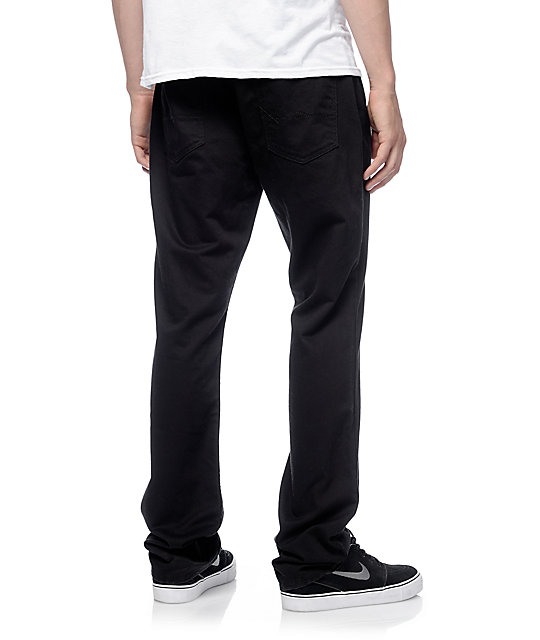 Free World Night Train 5 Pocket Black Twill Pants (Past Season)