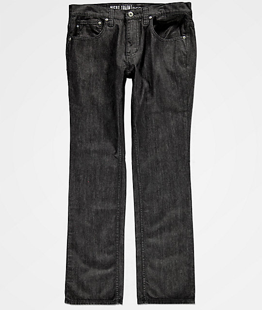 Free World Night Train Black Raw Denim Jeans