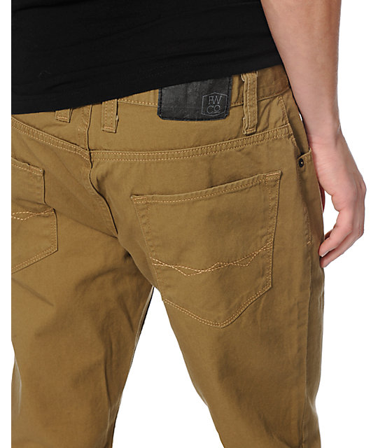 Free World Night Train Dark Khaki Regular Fit Pants