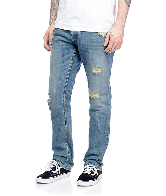 Free World Night Train Daytona Destroyed Regular Fit Jeans